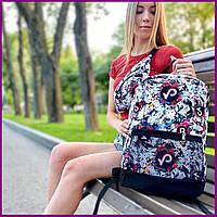 Рюкзак молодежный с рисунком TikTok, Городской рюкзак с принтом, Модный портфель для старшеклассников