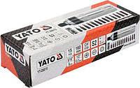 Викрутка реверсивна ударна: L= 160 мм, з магнітними насадками, комплект 15 Од. [мет. Кейс] YATO YT-28015