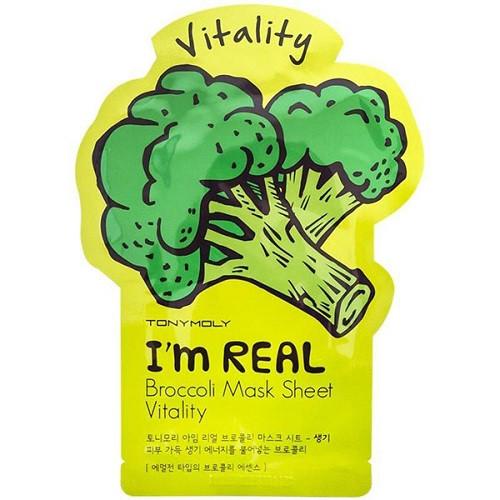 Обновляющая маска с брокколи Tony Moly I'm Real Broccoli Mask Sheet Vitality