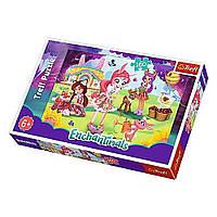 """Пазл """"Бри, Дантесса и Фелисити в саду"""", 160 элементов Trefl Mattel Enchantimals (5900511153613)"""
