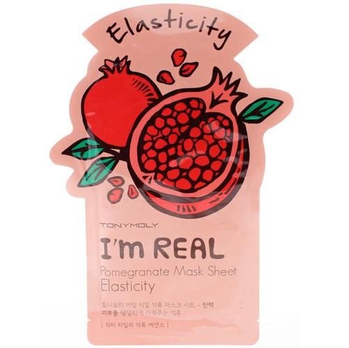 Подтягивающая маска с гранатом Tony Moly I'm Real Pomegranate Mask Sheet Elasticity