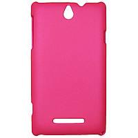 Чохол Colored Plastic для Sony Xperia E Rose