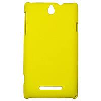 Чохол Colored Plastic для Sony Xperia E Yellow