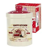"""Банка керамическая """"Happy Kitchen"""" 700 мл для сыпучих продуктов"""