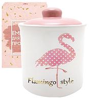 """Банка керамическая """"Flamingo style"""" 520 мл для сыпучих продуктов"""