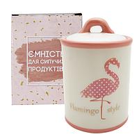 """Банка керамическая """"Flamingo style"""" 950 мл для сыпучих продуктов"""