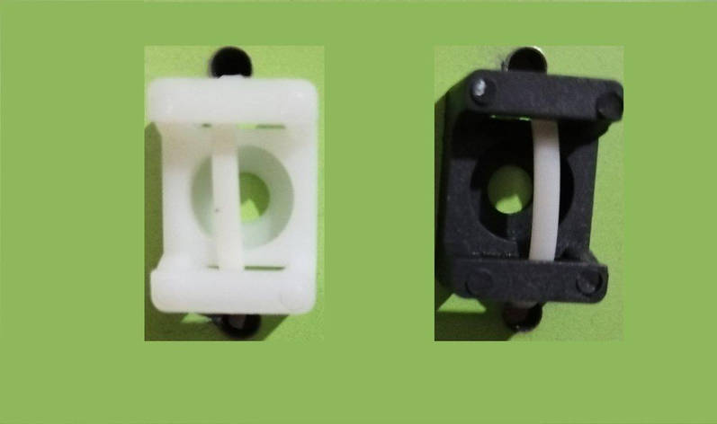 Майданчик під стяжку Lectris до 5мм (15х10 H-7мм Ø отв. 3мм) чорний, 100шт, фото 2