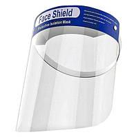 Защитный щиток экран для лица прозрачный пластик 33х22см Face Shield 5шт, фото 1