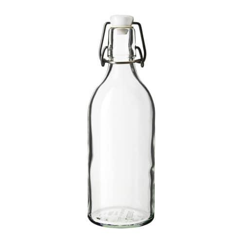 ИКЕА (IKEA) КОРКЕН, 203.224.72, Бутылка с пробкой, прозрачное стекло, 0.5 л - ТОП ПРОДАЖ