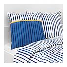 ИКЕА (IKEA) SÅNGLÄRKA, 004.270.12, Подушка, полоска, синий апельсин, 50x50 см - ТОП ПРОДАЖ, фото 5