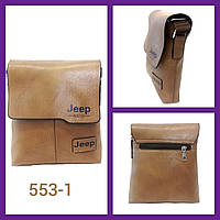 Брендова сумка для чоловіка Jeep Buluo 9008 коричнева