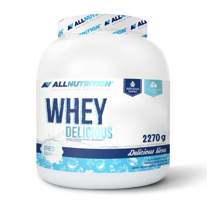 Протеин AllNutrition Whey Delicious, 2.27 кг Белый шоколад с персиком