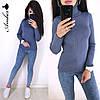 Гольф женский стильный, синий, 1113-0703