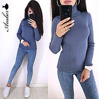 Гольф женский стильный, синий, 1113-0703, фото 1