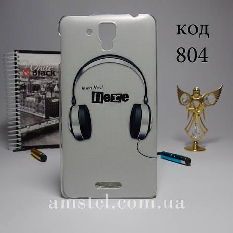 Чехол для lenovo s898t панель накладка с рисунком наушники, фото 2