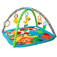 Развивающий коврик для детей Bright Starts Веселые зверята 52169, фото 1
