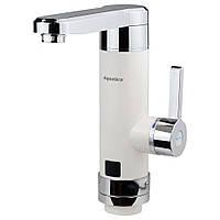 Кран-водонагреватель проточный HZ 3.0кВт 0,4-5бар для кухни гусак прямой на гайке (W) AQUATICA (HZ-6B243W)