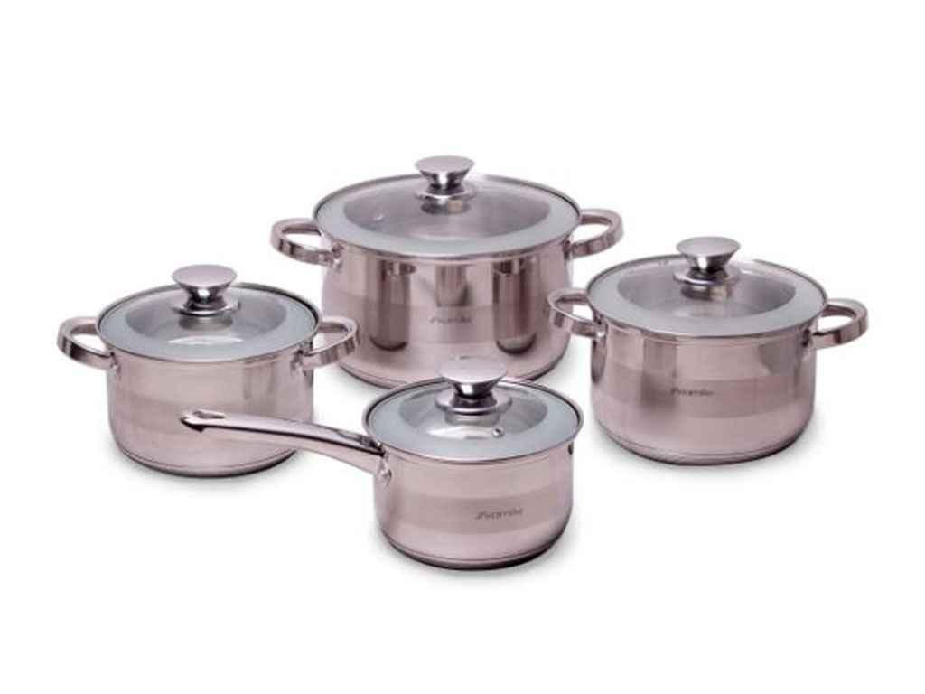 Набор посуды из нержавеющей стали Kamille 8 предметов (4504S)