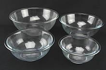 Набор мисок- противней А-Плюс стекло 4 шт (1098)