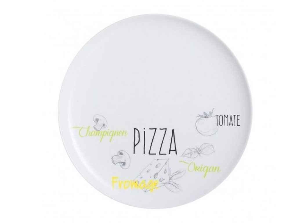Блюдо для піцци скло Luminarc Friends time Bistrot d=32 см (L2904)
