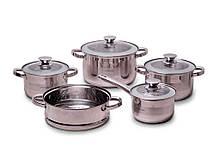 Набор посуды из нержавеющей стали Kamille 9 предметов 2,9л/3,9л/6,5л/2,1л (4505S)