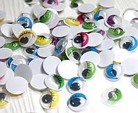 (10грамм, d=12мм) Глазки с ресничками подвижные для игрушек (115-120 глазок) цвет - Ассорти (сп7нг-2370)