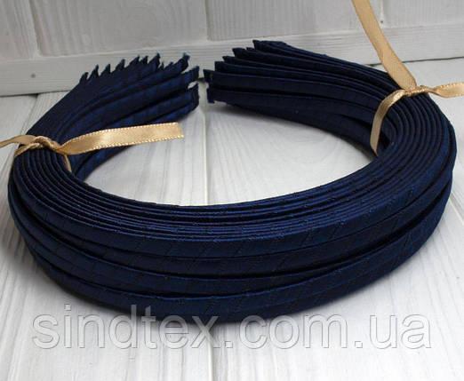 (50шт) Обруч  обмотанный атласной лентой  (5мм металлический).Цена за 50 шт. Цвет - темно синий (сп7нг-3822), фото 2