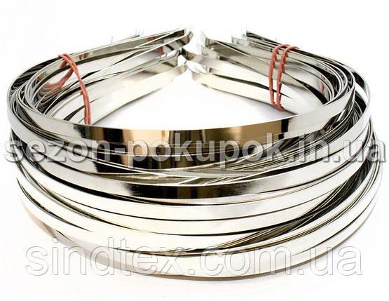 (50 шт) Обруч металлический (5мм) Цвет - серебро Цена за 50 шт (сп7нг-3823), фото 2