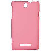 Чехол Colored Plastic для Sony Xperia E Pink