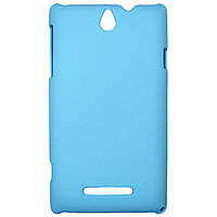 Чехол Colored Plastic для Sony Xperia E Blue