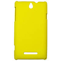 Чехол Colored Plastic для Sony Xperia E Yellow
