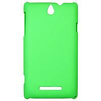 Чехол Colored Plastic для Sony Xperia E Green