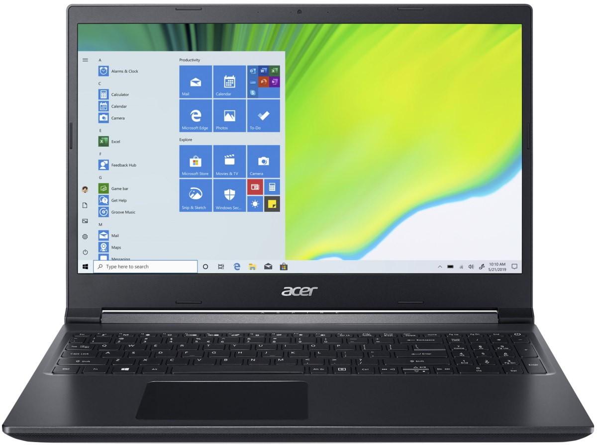 """Ноутбук Acer Aspire 7 A715-75G (NH.Q88EU.00M); 15.6"""" FullHD (1920х1080) IPS LED, матовий / Intel Core i7-9750H (2.6 - 4.5 ГГц) / RAM 16 ГБ / SSD 1 ТБ /"""