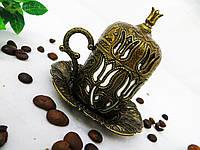 Турецкая чашка для кофе цвет бронза 50 мл