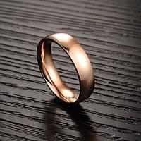 Парные кольца Обручальные Классика (розовое золото 750 проба, нержавеющая медицинская сталь)