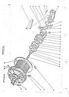 Лебедка грузовая, главная КС 6371-307б-00-000 в сборе