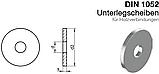 DIN 1052 : нержавіюча шайба плоска збільшена підкладна, фото 2