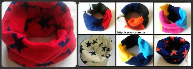 Теплый шарф-хомут-снуд