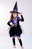 """Карнавальный костюм на праздник для девочки """"Ведьмочка Ведьма"""", фото 1"""