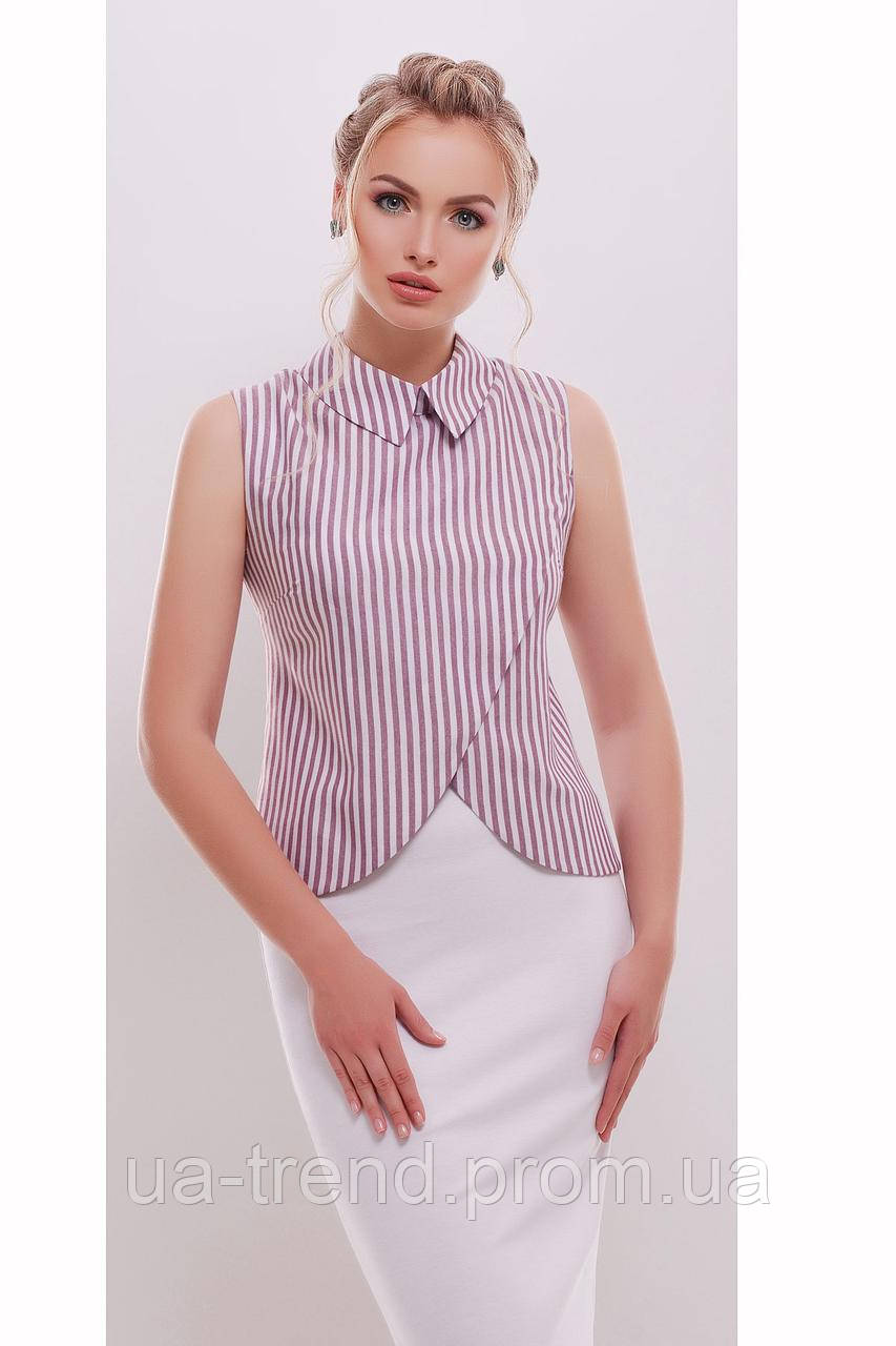 Офисная блузка в полоску