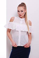 Біла блузка з запахом