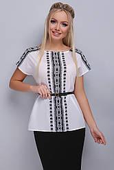 Жіноча блуза ділового стилю з коротким рукавом
