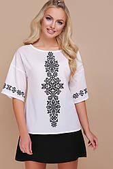 Біла блузка з орнаментом