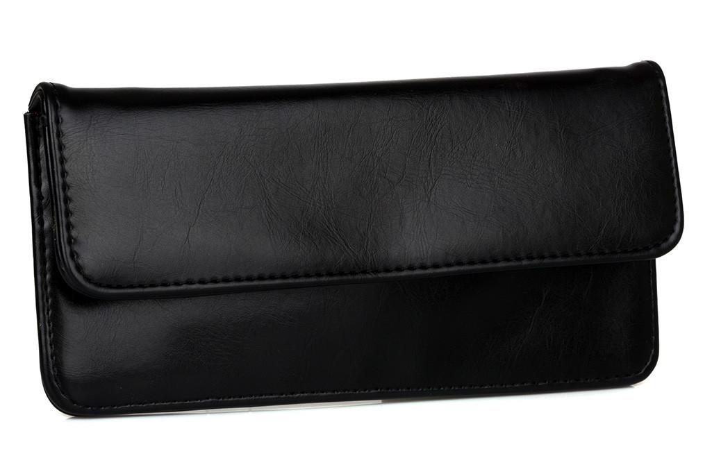Женский черный кошелечек из искусственной кожи
