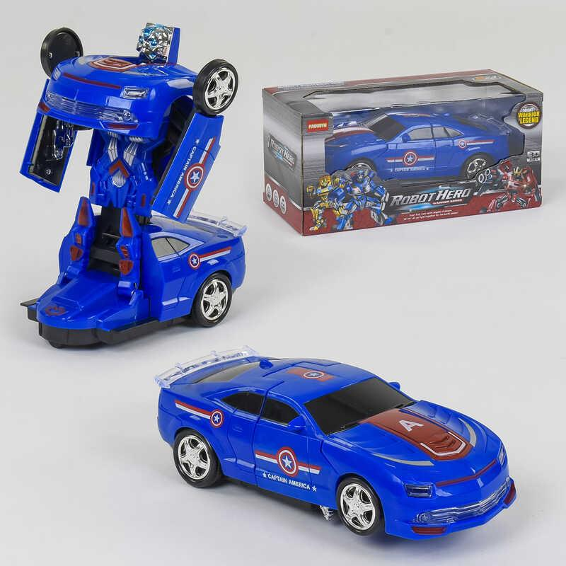 Машина-трансформер АТ 288 V (54/2) на батарейке, свет, звук, в коробке