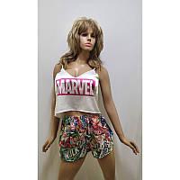 Пижамы весенние и летние женские шорты марвел