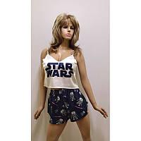 Пижамы весенние и летние женские шорты + майка шелк 'star wars'