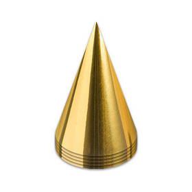"""Ковпак святковий """"Золото"""", Колпак """"Золото""""  звичайні"""