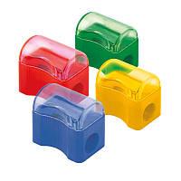 Точилка одинарная пластиковая с контейнером
