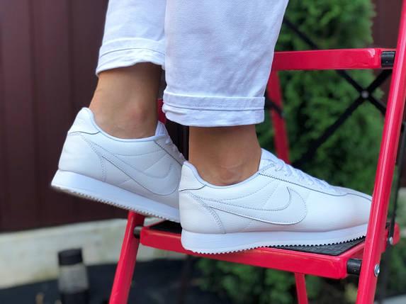 Кроссовки женские кожаные прессованная белые деми, фото 2